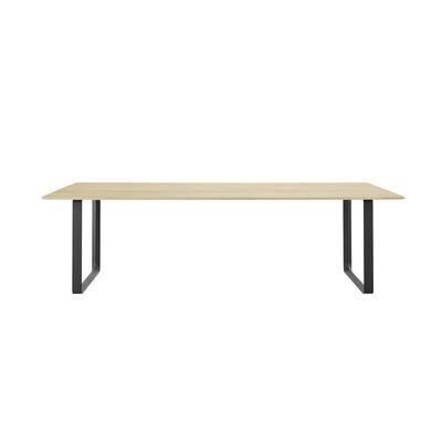 Mobilier - Bureaux - Table rectangulaire 70-70 XL / 255 x 108 cm - Chêne massif - Muuto - Chêne massif / Pied noir - Chêne massif, Fonte d'aluminium vernie