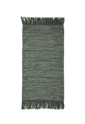 Tapis / Laine - 60 x 120 cm - Bloomingville vert en tissu
