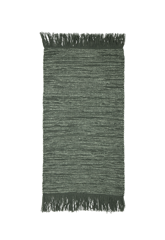 Interni - Tappeti - Tappeto - / Lana - 60 x 120 cm di Bloomingville - Verde - Cotone, Lana