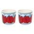 Tasse à café Mansikkavuoret / Sans anse - Set de 2 - Marimekko