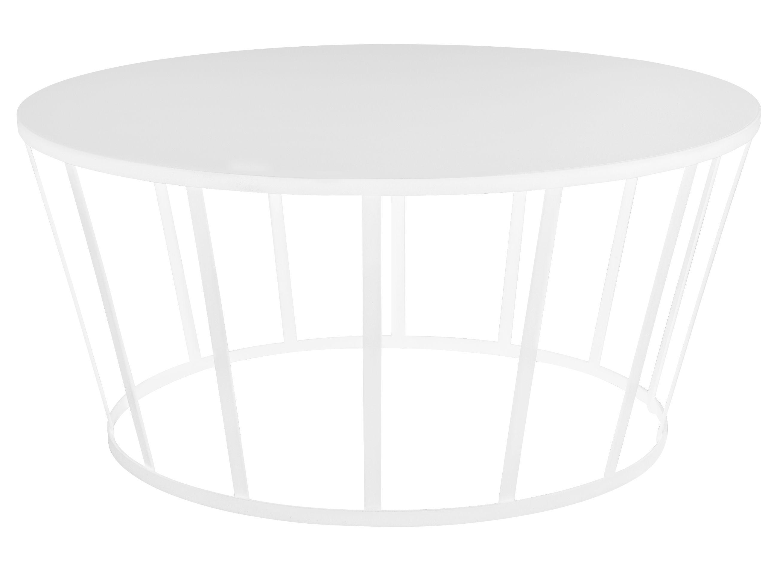 Arredamento - Tavolini  - Tavolino Hollo / Ø 70 x H 33 cm - Petite Friture - Bianco - Acciaio laccato
