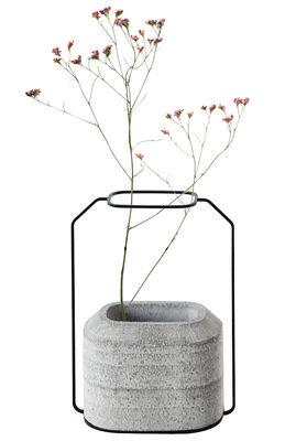 Vase Weight B / L 20 x H 28 cm - Spécimen Editions gris béton en métal