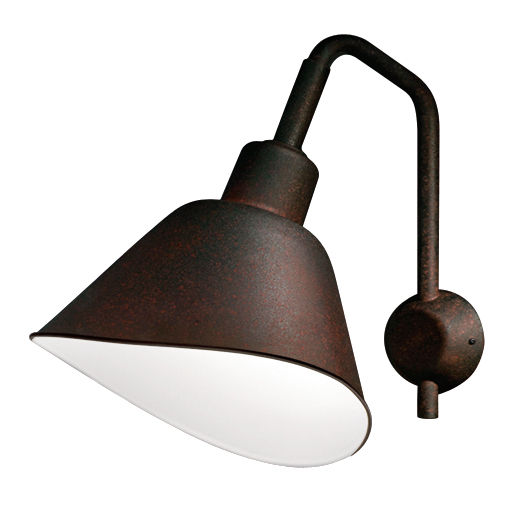 Lighting - Wall Lights - Smash Large Wall light - L 42 x H 50 cm by Diesel with Foscarini - Rust - Varnished aluminium, Varnished metal