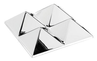 Furniture - Mirrors - Sculptures Wall mirror - 4 pyramids - Panton 1965 by Verpan - 4 pyramids - Silver / Mirror - PMMA