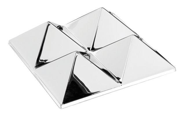 Möbel - Spiegel - Sculptures Wandspiegel von Verner Panton 1965 / Wanddeko- für 4 Bilder / exklusives Online-Angebot - Verpan - 4 Pyramiden - silberfarben/Spiegeloberfläche - PMMA
