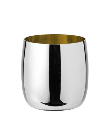 Tableware - Wine Glasses & Glassware - Foster Wine glass - / Steel - 0.2 L by Stelton - Steel & golden - Stainless steel