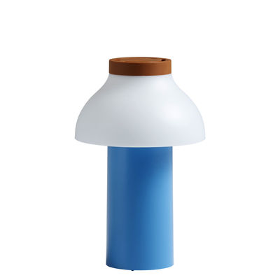 Lighting - Table Lamps - PC Portable Wireless lamp - / For outdoors - USB charging by Hay - Sky blue, white & terrazzo - ABS, Polypropylene