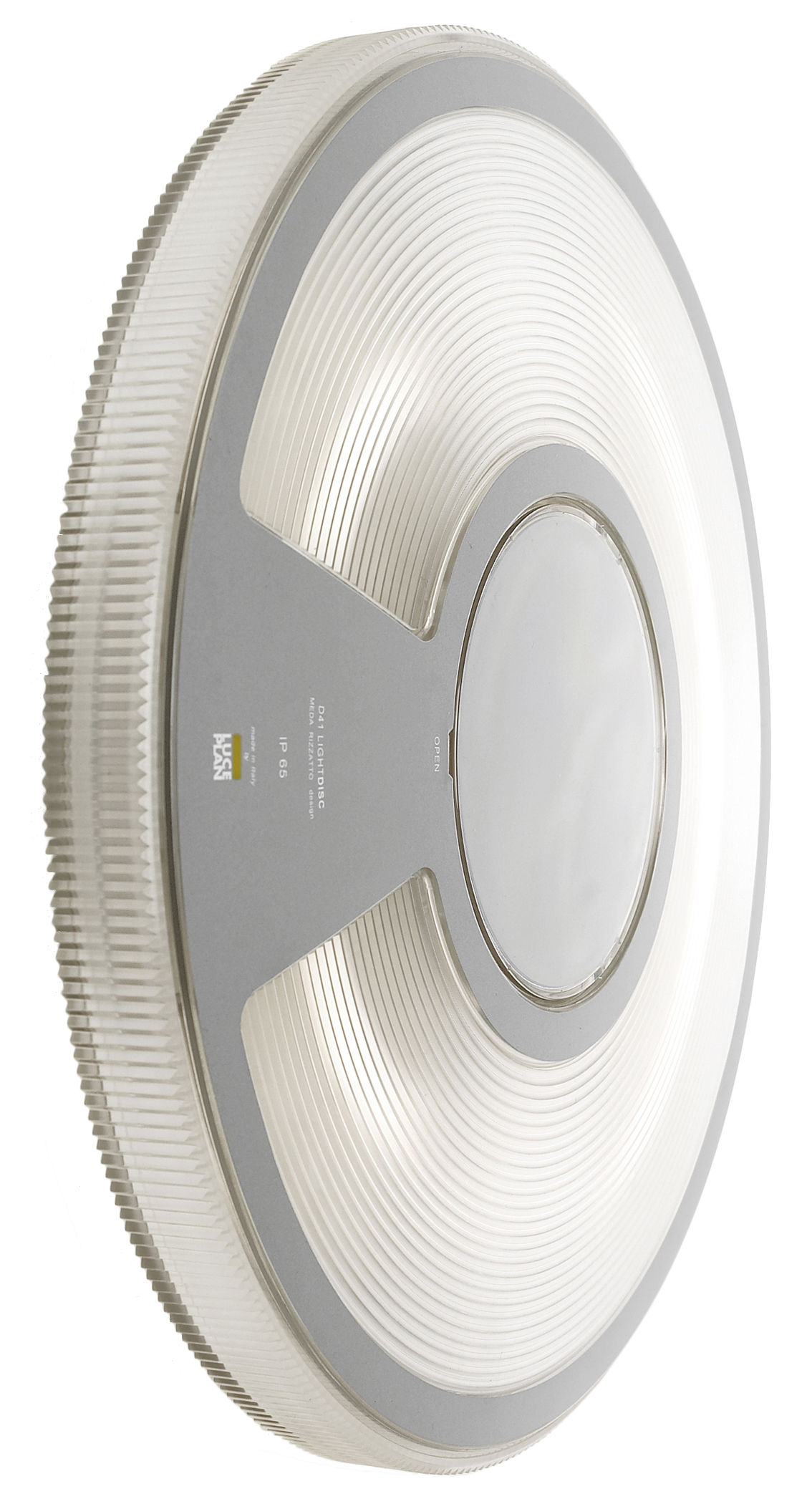 Luminaire - Appliques - Applique d'extérieur Lightdisc / Plafonnier - Ø 32 cm - Luceplan - Transparent - Polycarbonate