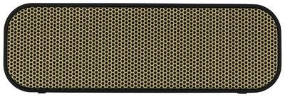 aktion - Kupfer, Gold und Co. - aGROOVE Bluetooth-Lautsprecher / kabellos - Kreafunk - Schwarz & goldfarben - Plastikmaterial