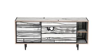 Buffet Wrongwoods / L 150 cm - Established & Sons blanc,noir en bois