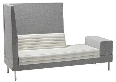 Canapé droit Smallroom / L 201 cm - Offecct gris en tissu