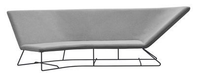 Canapé droit Ultrasofa L 300 cm 3 places Fermob gris perle,carbone en tissu