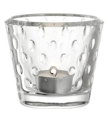 Decoration - Candles & Candle Holders - Vario Goccia Candle holder - H 8 cm by Leonardo - Transparent - Glass