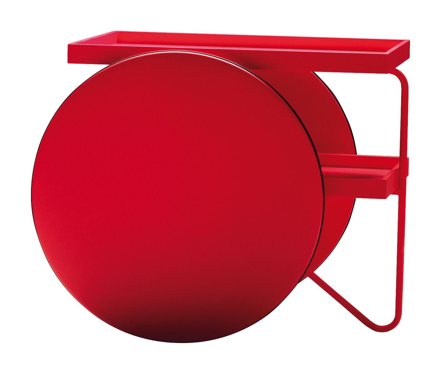 Arredamento - Complementi d'arredo - Carrello/tavolo d'appoggio Chariot di Casamania - Rosso fluo - MDF laccato