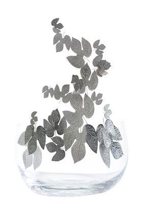 Tavola - Cesti, Fruttiere e Centrotavola - Centrotavola Frutteti Feuilles - / Cristallo & acciaio - Ø 21 cm di Opinion Ciatti - Foglie / Argento - Acciaio inossidabile, Cristallo di Boemia