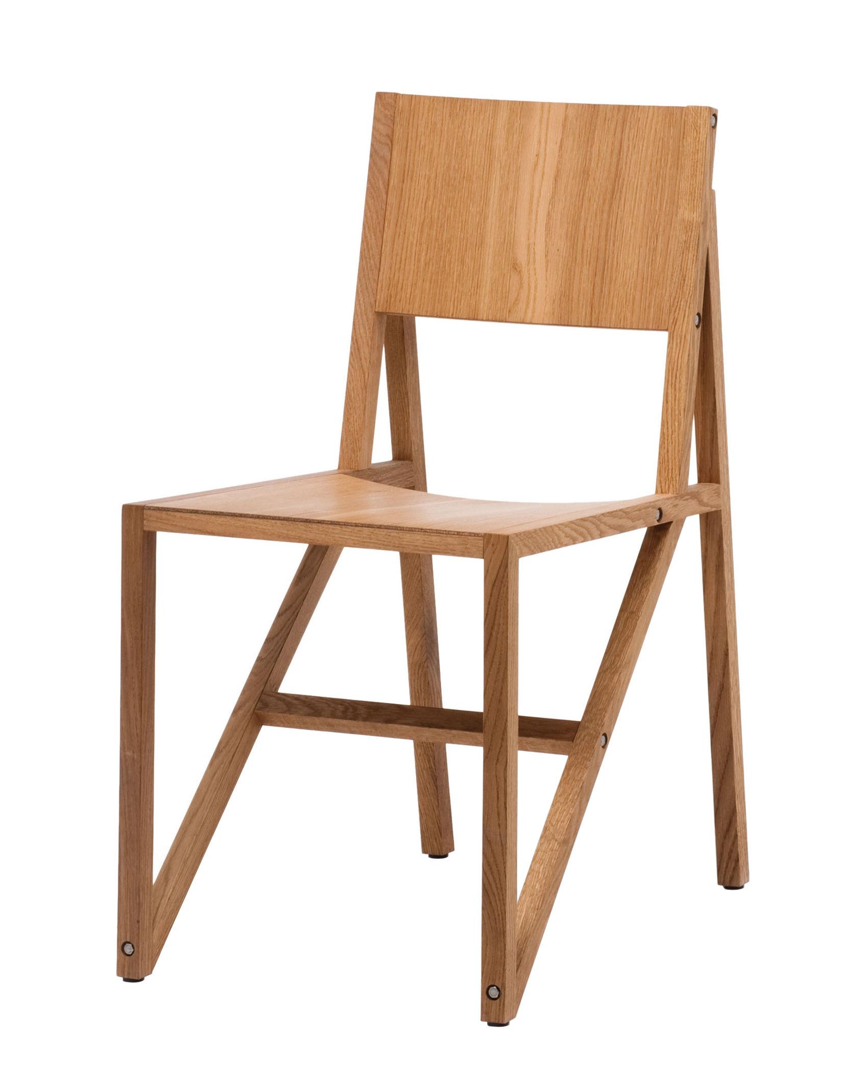 Mobilier - Chaises, fauteuils de salle à manger - Chaise Frame / Chêne - Established & Sons - Chêne naturel - Chêne massif huilé