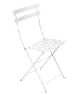 Chaise pliante Bistro / Métal - Fermob blanc en métal