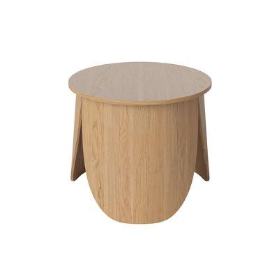 Furniture - Coffee Tables - Peyote Small Coffee table - / Ø 56 x H 45 cm by Bolia - Small / Oak - Oak plywood FSC
