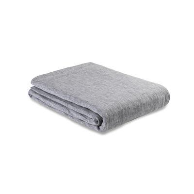 Decoration - Bedding & Bath Towels - Flat sheet 240 x 310 cm - / 240 x 310 cm - Washed linen by Au Printemps Paris - Mottled charcoal grey - washed linen