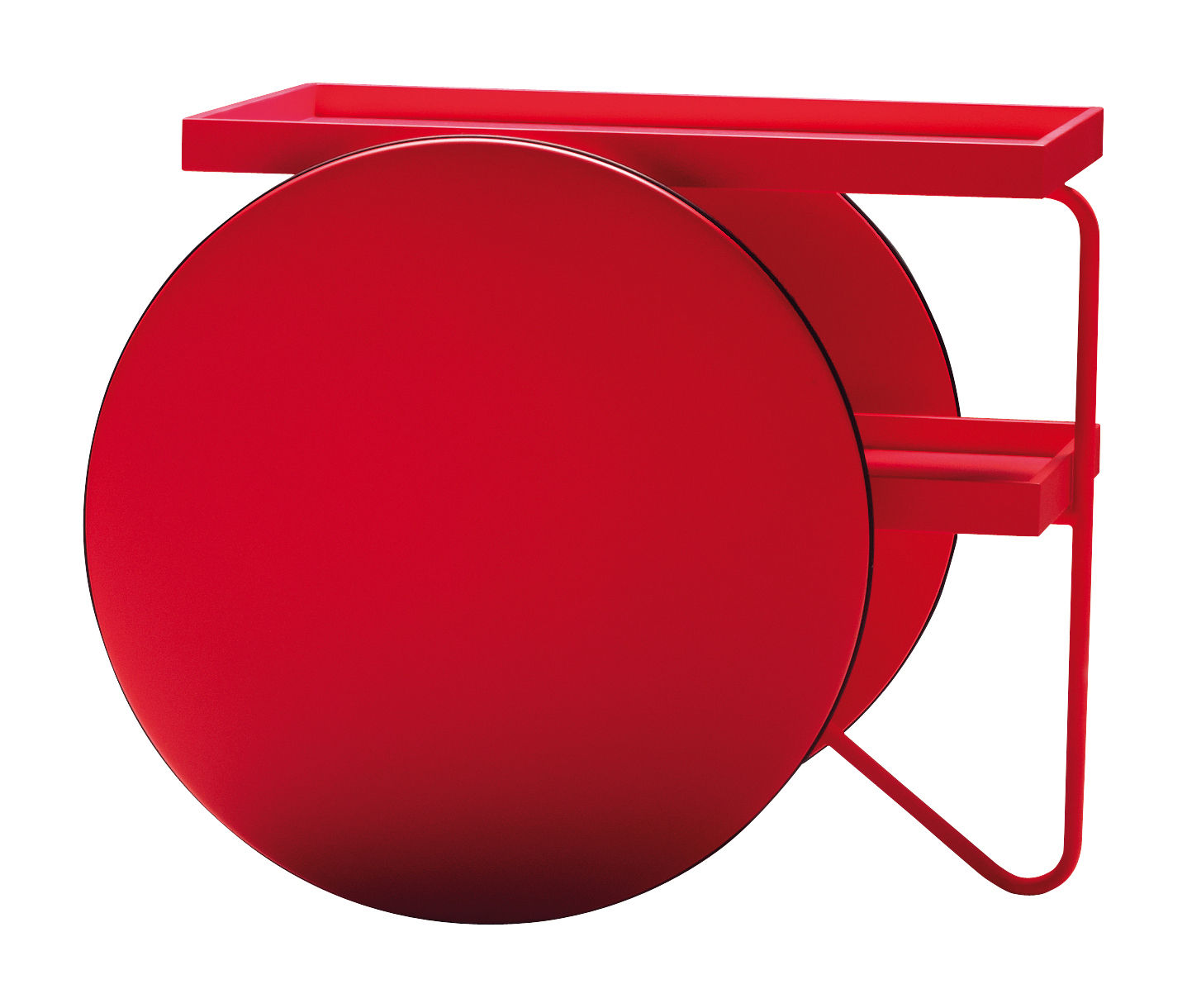 Furniture - Miscellaneous furniture - Chariot Dresser by Casamania - Fluorescent red - Lacquered MDF