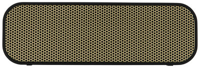 Dossiers - L'or vous va si bien - Enceinte Bluetooth aGROOVE / Portable sans fil - Kreafunk - Noir / Or - Matière plastique
