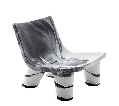 Fauteuil bas Low Lita / Edition limitée 10 ans - Slide blanc,noir en matière plastique