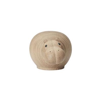 Déco - Pour les enfants - Figurine Hibo SMALL / Hippopotame- L 12 cm - Woud - Hippopotame / Chêne - Chêne massif