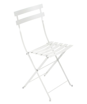 Furniture - Chairs - Bistro Folding chair - Metal by Fermob - Cotton white - Lacquered steel