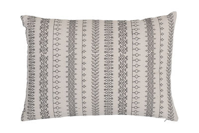 Kissen / 35 x 50 cm - Baumwolle - Bloomingville - Weiß,Schwarz