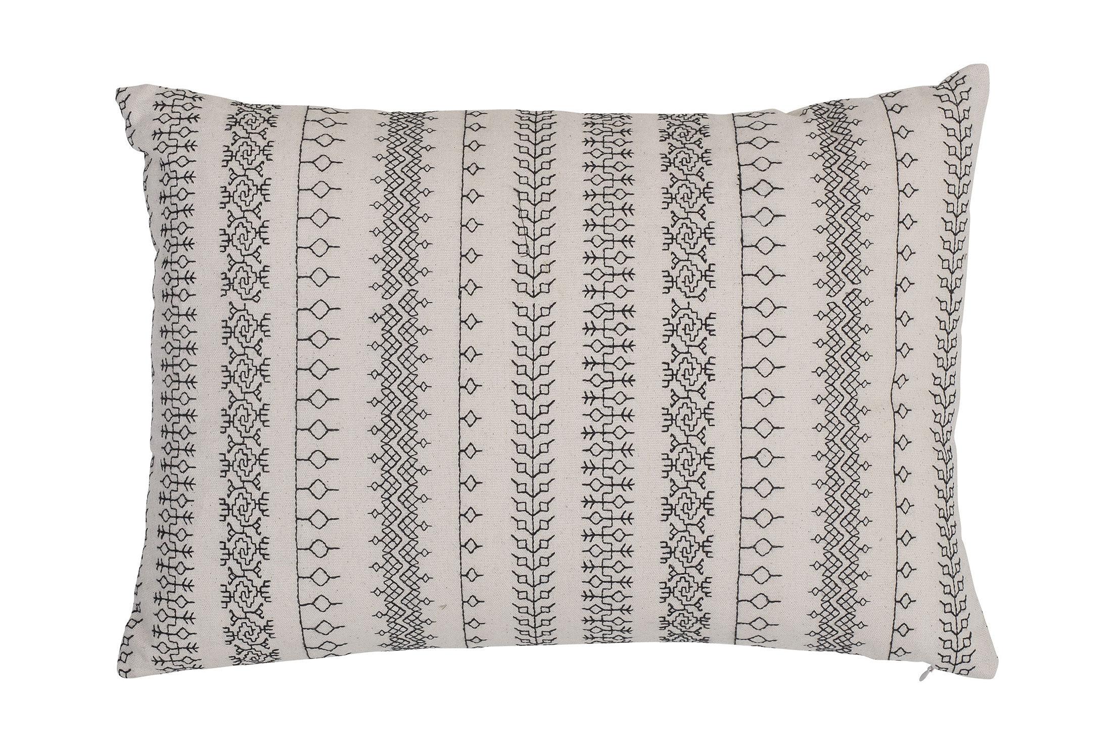 Dekoration - Kissen - Kissen / 35 x 50 cm - Baumwolle - Bloomingville - Schwarz & weiß - Baumwolle, Polyesterfaser