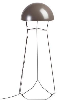 Illuminazione - Lampade da terra - Lampada a stelo Dom - H 145 cm di Forestier - Marrone - metallo laccato