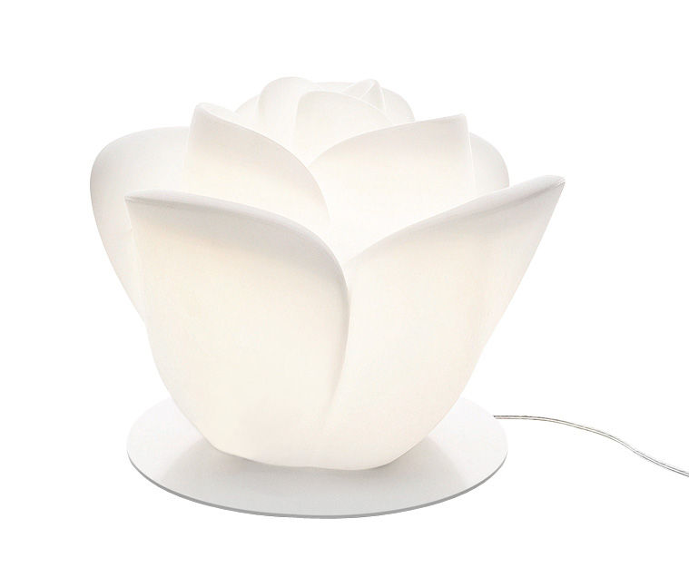 Illuminazione - Lampade da tavolo - Lampada da tavolo Baby Love di MyYour - Base bianca - Acciaio laccato, Materiale plastico