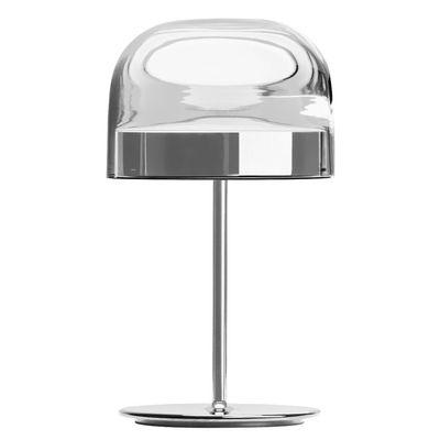 Illuminazione - Lampade da tavolo - Lampada da tavolo Equatore Large - / LED - Vetro - H 60 cm di Fontana Arte - Cromato e trasparente - Metallo, vetro soffiato
