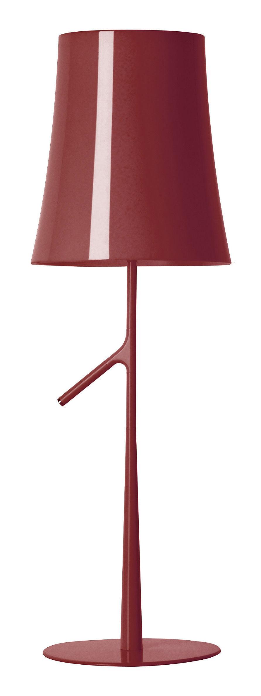 Luminaire - Lampes de table - Lampe de table Birdie Grande / H 70 cm - Foscarini - Amarante - Acier laqué, Polycarbonate