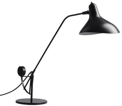 Luminaire - Lampes de table - Lampe de table Mantis BS3 / Schottlander - H 84 cm - Réédition - DCW éditions - Noir / Abat-jour noir - Acier, Aluminium