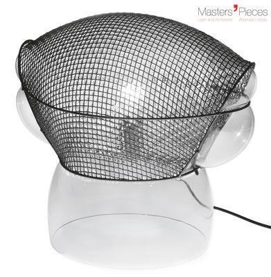 Luminaire - Lampes de table - Lampe de table Masters' Pieces - Patroclo / 1975 - Artemide - Métal / Transparent - Acier, Verre soufflé