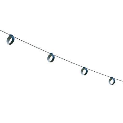 Leuchten - Außenleuchten - Hoop  Lichtgirlande im Freien LED / Außen - 12 Meter / Bluetooth - Fermob - Acapulcoblau - ABS, Polykarbonat