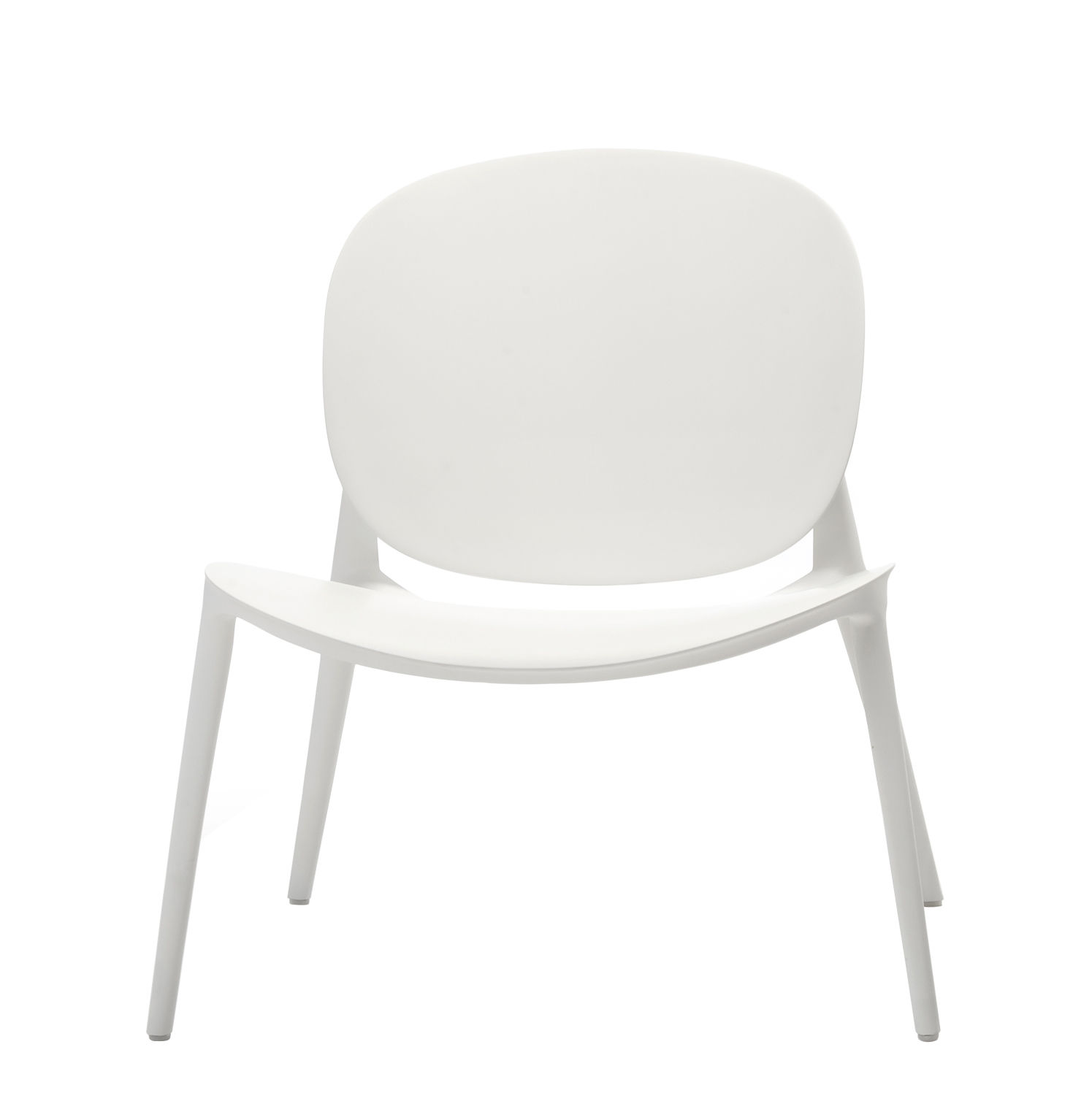 Furniture - Armchairs - Be Bop Low armchair - / Outdoor by Kartell - White - Polypropylene