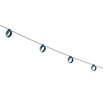Lighting - Outdoor Lighting - Hoop Outdoor luminous garland - LED / Outside - 12 metres / Bluetooth by Fermob - Acapulco blue - ABS, Polycarbonate