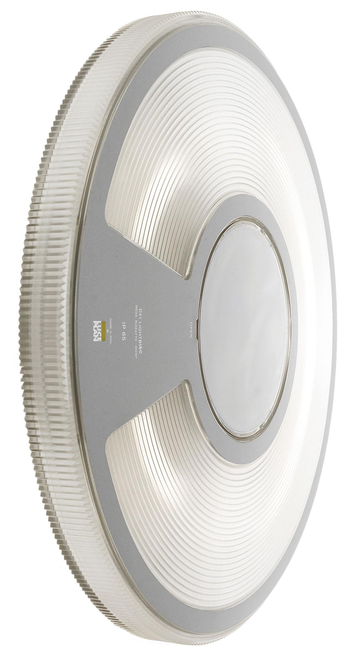 Lighting - Wall Lights - Lightdisc Outdoor wall light - Ceiling light - Ø 32 cm by Luceplan - Transparent - Polycarbonate