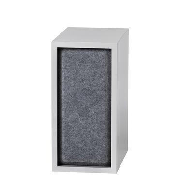 Mobilier - Etagères & bibliothèques - Panneau acoustique / Pour étagère Stacked Small - 43x21 cm - Muuto - Gris - Feutre pressé