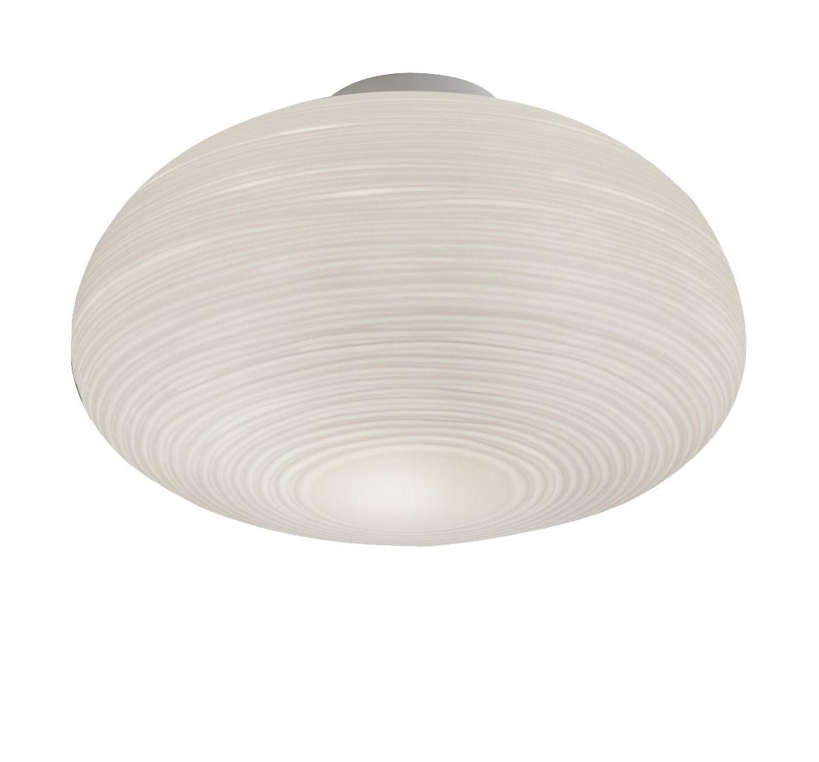 Illuminazione - Lampade da parete - Plafoniera Rituals 2 - / Ø 34 x H 21 cm di Foscarini - Bianco / Ø 34 x H 21 cm - metallo laccato, Vetro soffiato a bocca