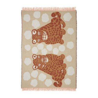 Home textile - Bedding - Kaksoset Plaid - / 130 x 180 cm by Marimekko - Kaksoset / Beige & apricot - Cotton