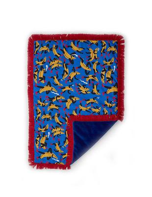 Dekoration - Wohntextilien - Tapame Mucho Small - Banana Guys Plaid rembourré / 140 x 90 cm - Sancal - Banana Guys / blau - Fausse fourrure, Fibre synthétique, Polyesterfaser