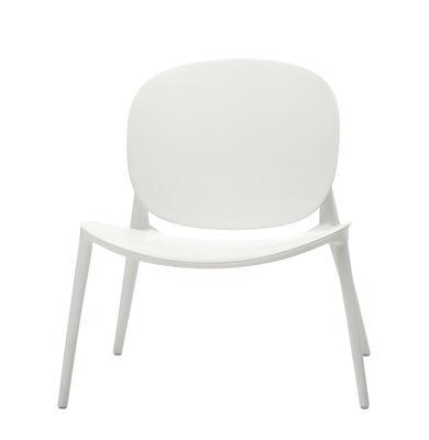 Arredamento - Poltrone design  - Poltrona bassa Be Bop - / Outdoor di Kartell - Bianco - Polipropilene