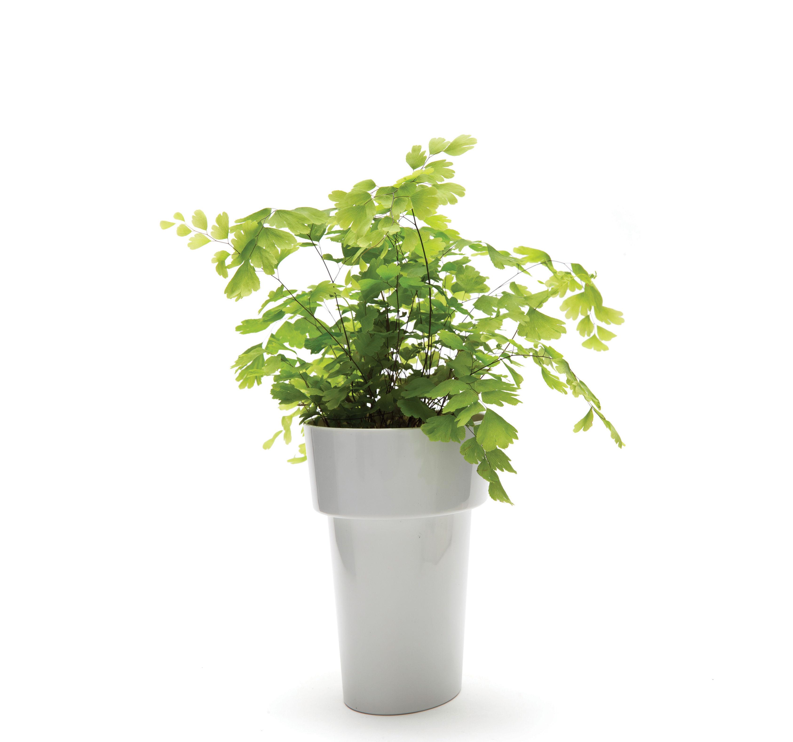 pot de fleurs slim pa design gris h 13 5 made in design. Black Bedroom Furniture Sets. Home Design Ideas
