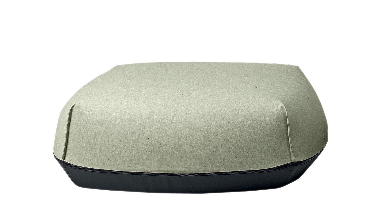Arredamento - Pouf - Pouf Brioni - / Per esterno - Large di Kristalia - Verde schiuma - Poliestere, Poliuretano, Toile Sunbrella