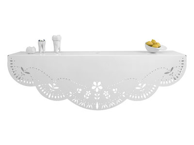 Möbel - Regale und Bücherregale - Chantilly Regal L 90 cm - Domestic - Weiß - lackiertes Metall