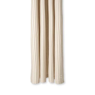 Accessoires - Accessoires salle de bains - Rideau de douche Chambray Striped / 160 x H 205 cm - Coton enduit - Ferm Living - Rayé /Sable & blanc cassé - Coton enduit