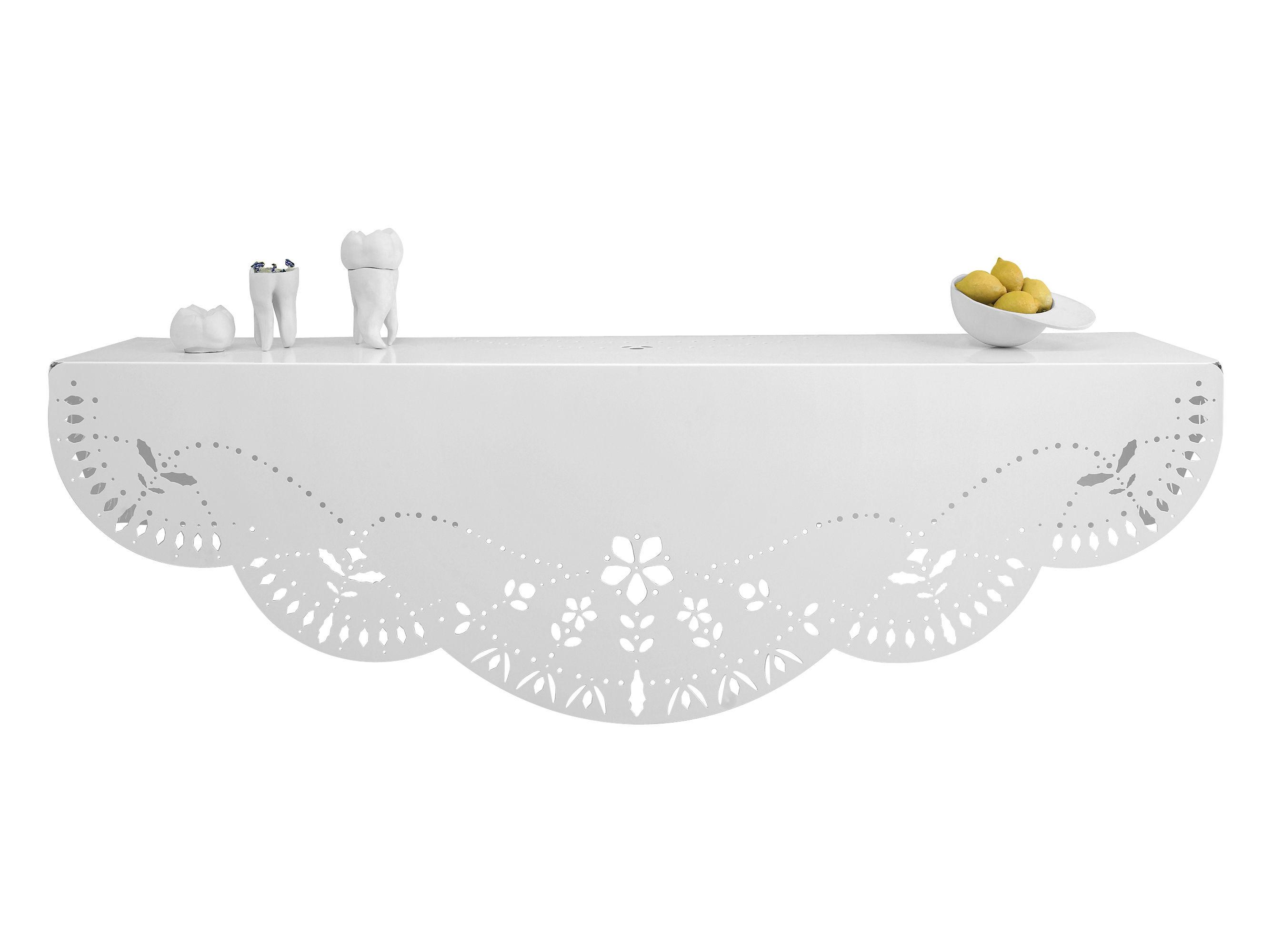 Arredamento - Scaffali e librerie - Scaffale Chantilly - L 90 cm di Domestic - Bianco - metallo laccato